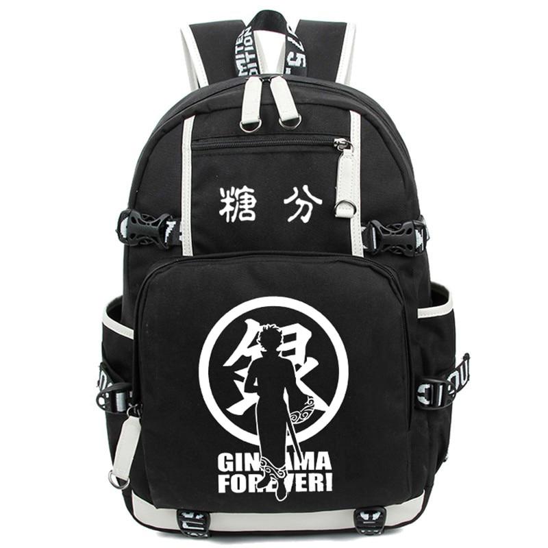 Gintama Shoulder Bag Anime Cosplay Luminous Backpack Sakata Gintoki Casual Daypack Women Men Schoolbag Free Shipping hot new gintama model sakata gintoki western toys free shopping
