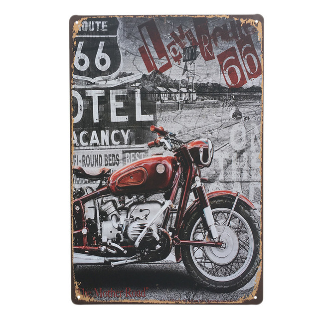Motorcycle Series Retro Style Iron Sign Painting Decorative Signs Plaque Vintage Metal Tin Poster Bar