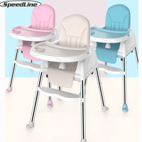 Speedline Baby Highchair For Feeding Authentic Portable Baby Seat Booster Seat Adjustable Folding Chairs For Children