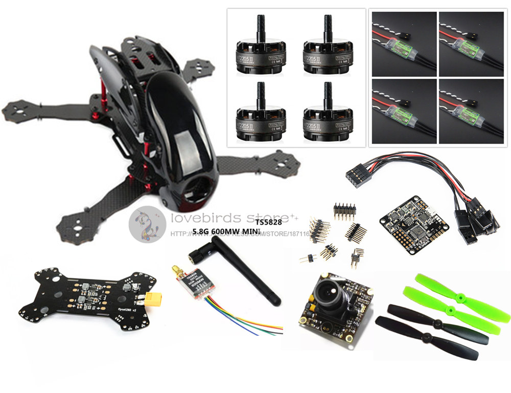 DIY FPV race Robocat 270 V2 mini drone Fiberglass / carbon frame kit NAZE32 10DOF+EMAX RS2205 2300KV+BL12A ESC oneshot125+TS5828 the newest diy fpv race drones robocat 270mm 4 axis fiber glass mini 270 quadcopter frame