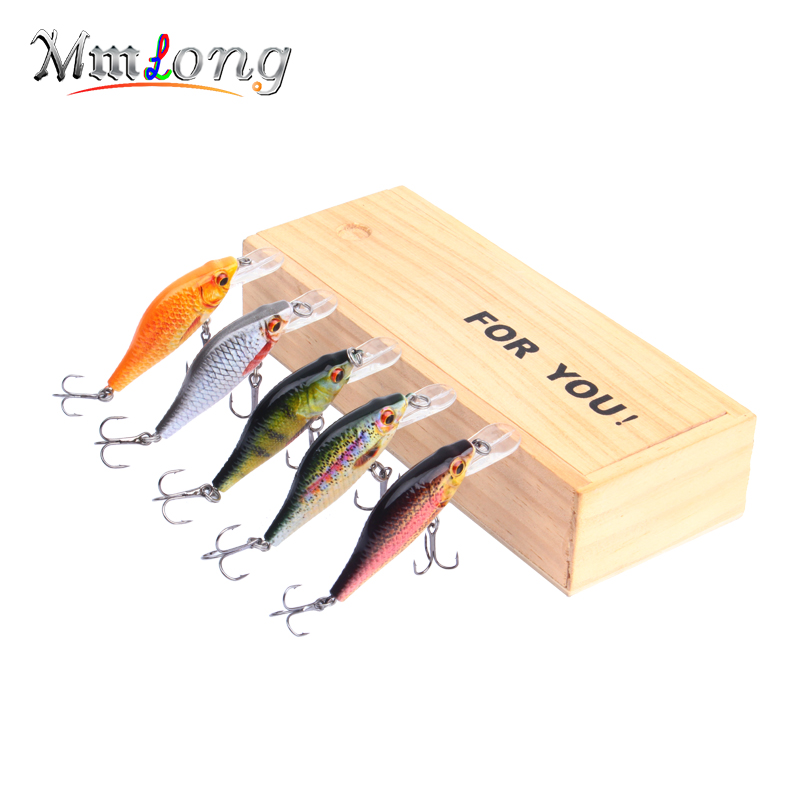 Mmlong 3.5 Hotsale Realistic Fishing Lure 2 Kinds of 3D Eyes Crankbait 5 ColorHard Fish Bait 10.5g Wobbler Tackle Pesca MH11B