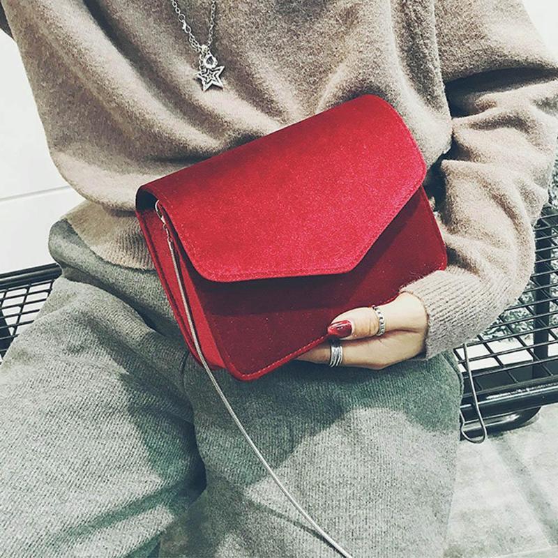 2019 Women Evening Shoulder Bag Bridal Clutch Chain Velvet Silk Bottom Elegant Party Bags Wedding Lady Messenger Bag HandbagsZ50
