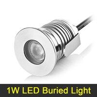 LED Buried Light 1W DC 12V 24V Waterproof LED Floor Lamp Mini Deck Light LED Ground