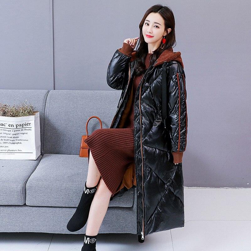 Coréenne Qh086 Mode Feminina Veste Mince Parka Décontracté Longue 2019 Grande Femelle Chaud Black Femmes D'hiver golden Coton Matelassé Épais Manteau Taille De 7vnH6qw