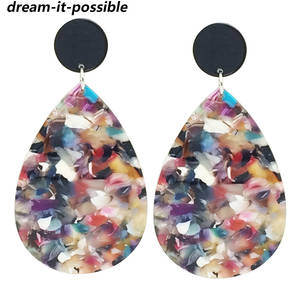Acetate Earrings Acrylic Drop Luxury Jewelry Woman Fashion Dream-It-Possible for Oval