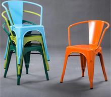 Tie yi dining chair leisure tie yi chair back to back armchair restaurant milk tea coffee shop chair loft furniture tin chair. real wood dining chair european leisure chair creative nail chair armchair