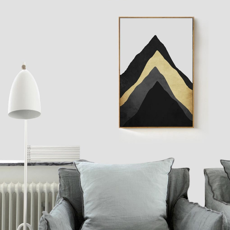 Abstract Multi-layers of Mountain Canvas Painting Nordic Posters Prints Oil Wall Art Picture for Living Room Home Decor No Frame