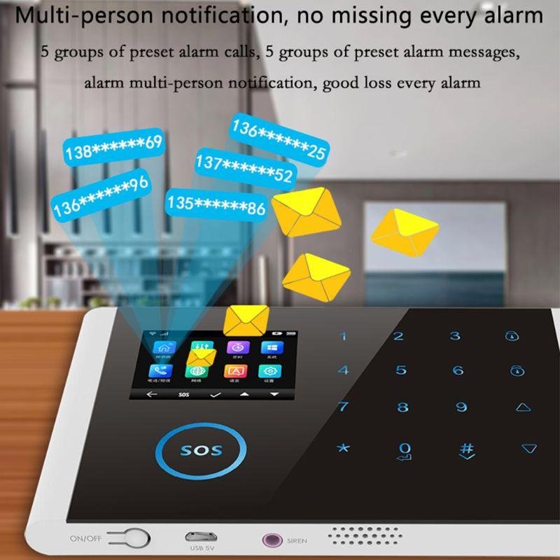 1Set CS108 Drahtlose WIFI GSM GPRS Smart Alarm System APP Fernbedienung RFID Karte Home Security Kit mit Bunten bildschirm SOS - 3