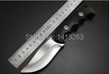High Quality 7Cr13 Outdoor American Paner ABS Wild Jungle Survival Camping Hunting Knives Handle Keel Small Straight Knife