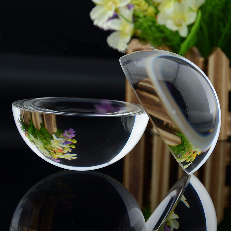 12PCS 100mm Glass Dome Paperweight Hemisphere Paper Weight Crystal Gift Transparent Half Ball Sphere Crystal Craft