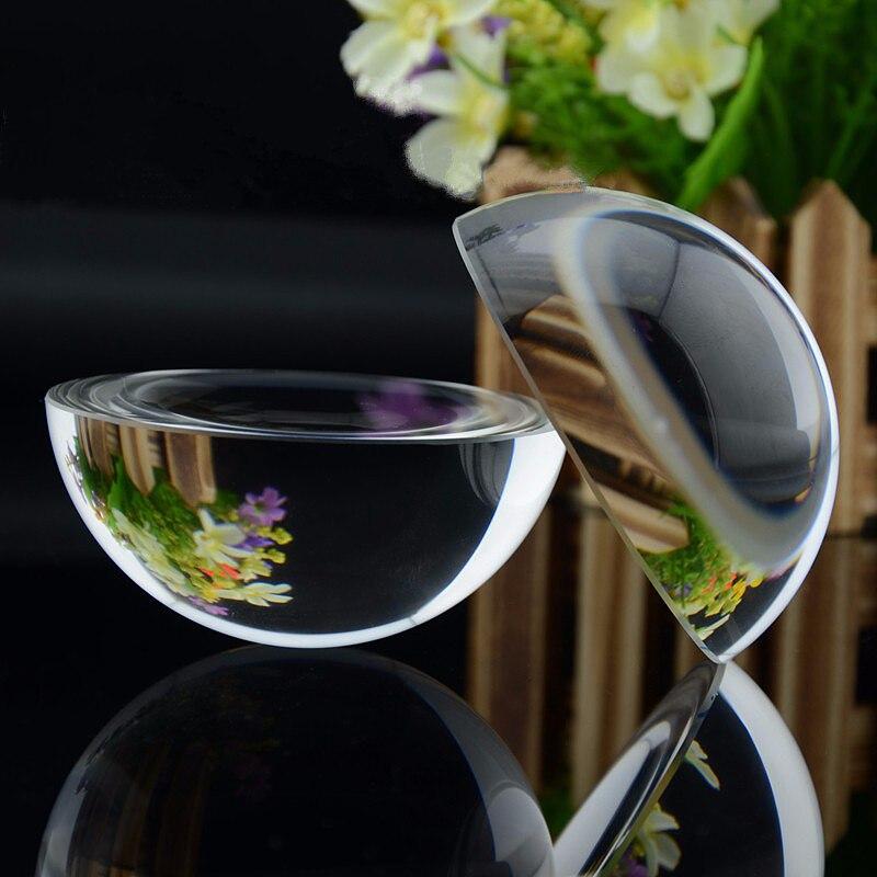 12 SZTUK 100mm Szkło Dome Paperweight Półkuli Gramatura Papieru Prezent Kryształ Przezroczysty Half Ball Kula Crystal Rzemiosła