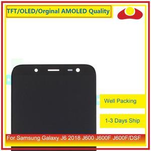Image 3 - 50 Pcs/lot DHL pour Samsung Galaxy J6 2018 J600 J600F J600FN affichage à cristaux liquides avec écran tactile numériseur panneau approvisionné