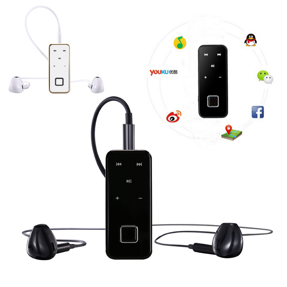 Mini Clip on Wireless Bluetooth Headset handsfree clip Sport Stereo Earphone Headphone For Samsung iPhone Smartphone
