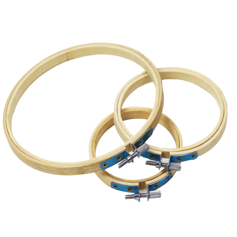 3pcs/set Bamboo Frame Embroidery Hoop Set Ring DIY Needlecraft Cross Stitch Machine Round Loop Hand Household Sewing Tools Lahore