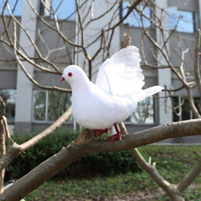 Artificial Foam Feather Decorative Doves For Wedding Party Decorations Mini White Birds With Magnet Craft Home Decor