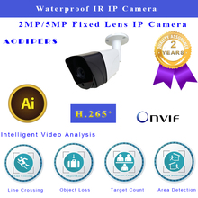 1080P infrared IP Camera H.265 CMOS Waterproof Bullet supports 3.6 mm lens Onvif 2.6 H.264 for surveillance System