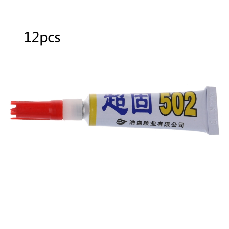 Home Improvement 12pcs Quick Dry Adhesive Strong Bond Fast Super Liquid Glue For School Office Homeful