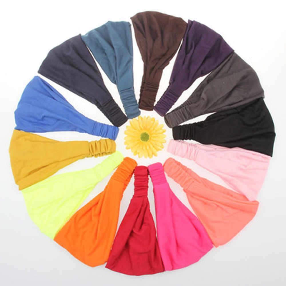 Boho Şapkalar Büküm Kafa Bandı Elastik Wrap Türban saç bandı Yoga Spor Bayanlar Chouchou Cheveux Femme