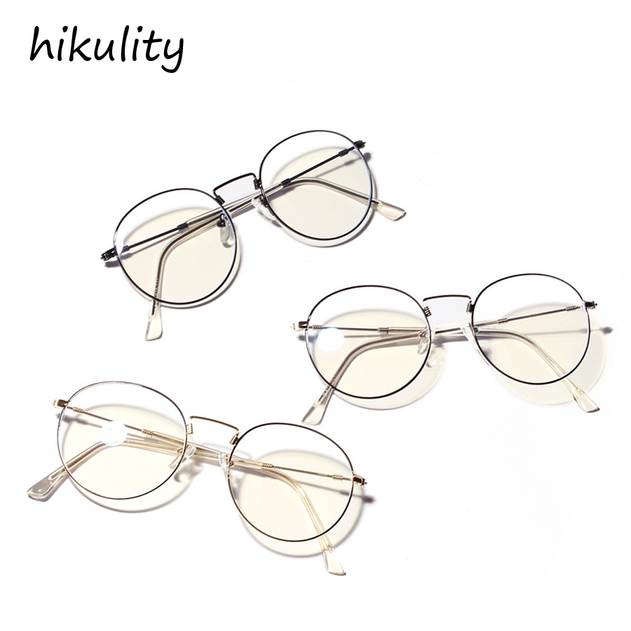 ebc6d0d88 Accessories Clothing, Shoes & Jewelry Glasses frame female retro round  frame anti-blue glasses black gold frame