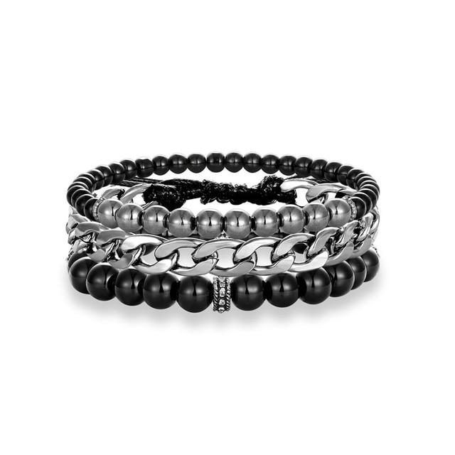 Bracelet Homme Perle Luxe