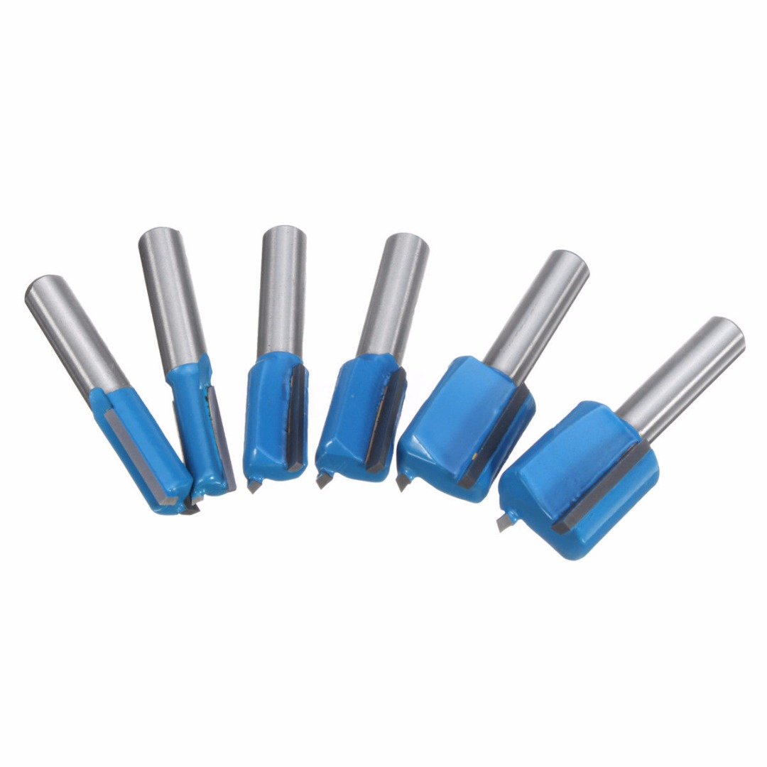 1pc Woodworking Router Bit Set 6/8/10/12/14/18/20mm Cutting Diameter 8mm Straight Shank For MDF Solid Wood Turning Lathe Machine