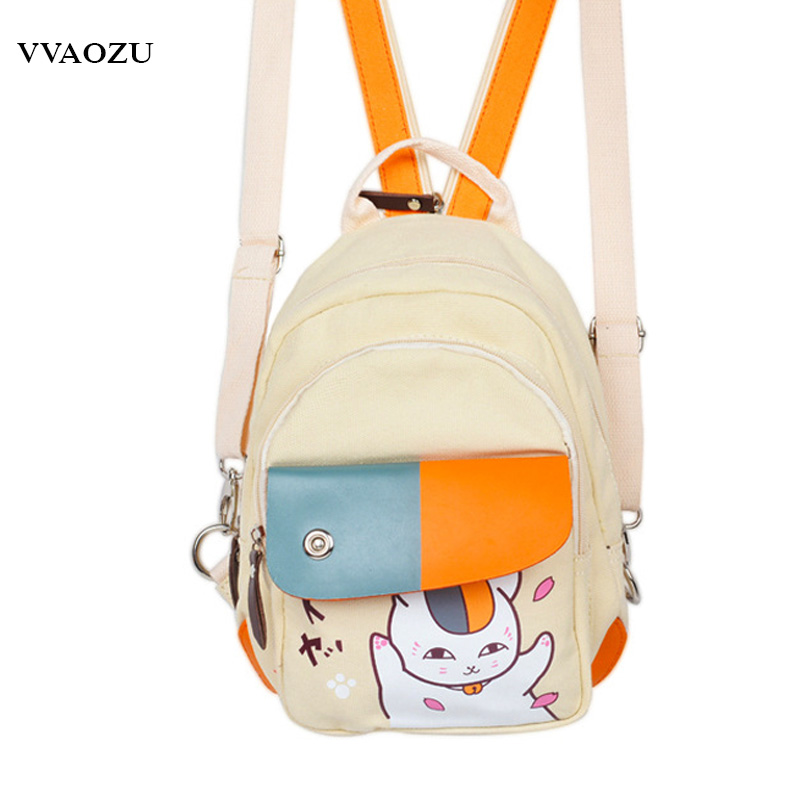 Anime Natsume Yuujinchou Canvas Mini Backpack Multifunctional Daypack Travel Messenger Chest Bag Unisex Rucksack