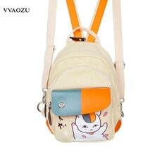 Аниме Нацумэ Yuujinchou холст мини рюкзак многофункциональный рюкзак дорожная сумка-мессенджер Грудь сумка унисекс рюкзак