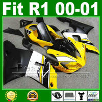 Same as OEM ! fairings for YAMAHA YZF R1 2000 2001 yellow fairing kit YZFR1 00 01 1000 YZF R1 bodywork kits plastic parts