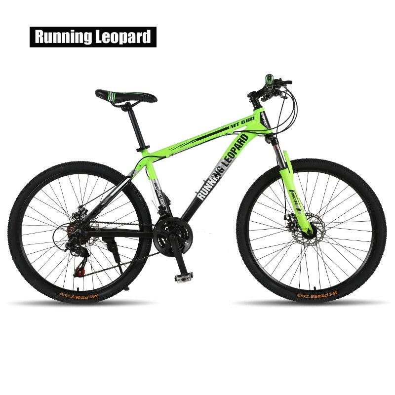 Running leopard mountain bike bicicleta 21/24 velocidade mountain bike adequado para homens e mulheres estudantes veículo adultb
