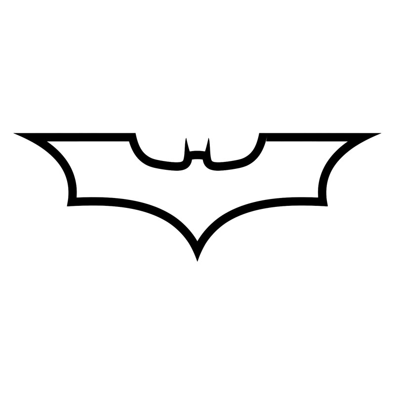 1968CM Batman Logo Dark Knight Fashion Decal Car Body Styling Stickers Accessories Black Silver C9 1162 In From Automobiles Motorcycles