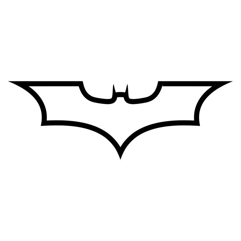 19*6.8CM Batman Logo Dark Knight Fashion Decal Car Body Car Styling Stickers Accessories Black/Silver C9-1162