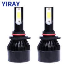 YIRAY Car Headlight H7 H4 LED H11 H1 9005 9006 HB3 HB4 COB Lights Bulbs 72W 8000LM 6500K Fog Light 12V Auto Headlamp Lamps