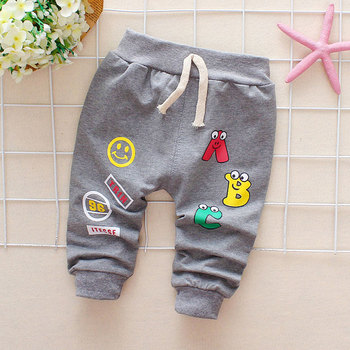 Baby Boys Girls Pants Letter Newborn Cotton Harem For Casual Trousers Boy Girl Clothes - discount item  24% OFF Baby Clothing