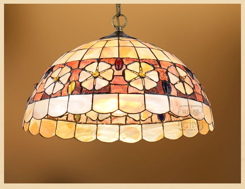 Mediterranean Style Tiffany Shell Ceiling Lamp 20/25/30/35/40cm E27 AC 110-240V LED Ceiling Lights Luminarias light fixtureMediterranean Style Tiffany Shell Ceiling Lamp 20/25/30/35/40cm E27 AC 110-240V LED Ceiling Lights Luminarias light fixture
