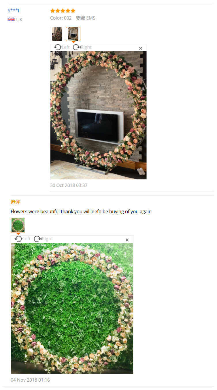 Image 5 - 2pcs/lot 1M Road cited artificial flowers row wedding decor flower wall arched door shop Flower Row Window T station  Christmas-in Artificial & Dried Flowers from Home & Garden