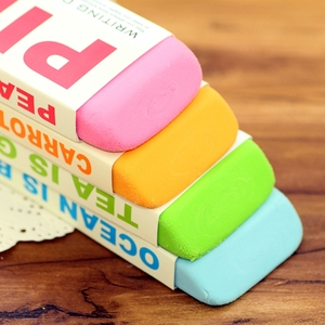 Image 3 - [M & G] Candy Farbe Kawaii Schule Liefert Bleistift Radiergummis Niedlich Super Großen Radiergummi 4 Farben Koreanische schreibwaren AXP96453