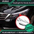 PUIYUE стайлинга Автомобилей Freeshipping 9600Lm Для 2011-2014 Honda Accord Фары Автомобиля Angel Eyes LED Бровей Дневного Света