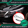 PUIYUE Car styling Freeshipping 9600Lm For 2011-2014 Honda Accord Car Headlight  Angel Eyes LED Eyebrow Daytime Running Light
