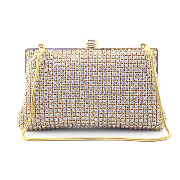 Women Famous Brand Crystal Evening Purse Metal Clutches Gold & Silver Clutch Bags Handbags Bolsos Wedding Bags(T007-BG) women gold handbags blue crystal evening purse metal red clutches silver beaded bridal wedding box clutch bags bolsos mujer