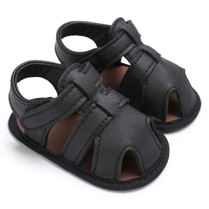 Infant Summer Baby Boys Shoes Newborn First Walkers PU Leather Soft Soled Beach Crib Bebe Shoes