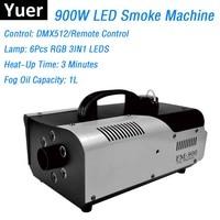 900W RGB 3IN1 LED Fog Stage Effect Smoke Machine Remote Control Smoke Machine Stage Lighting Fog Equipments High Quality