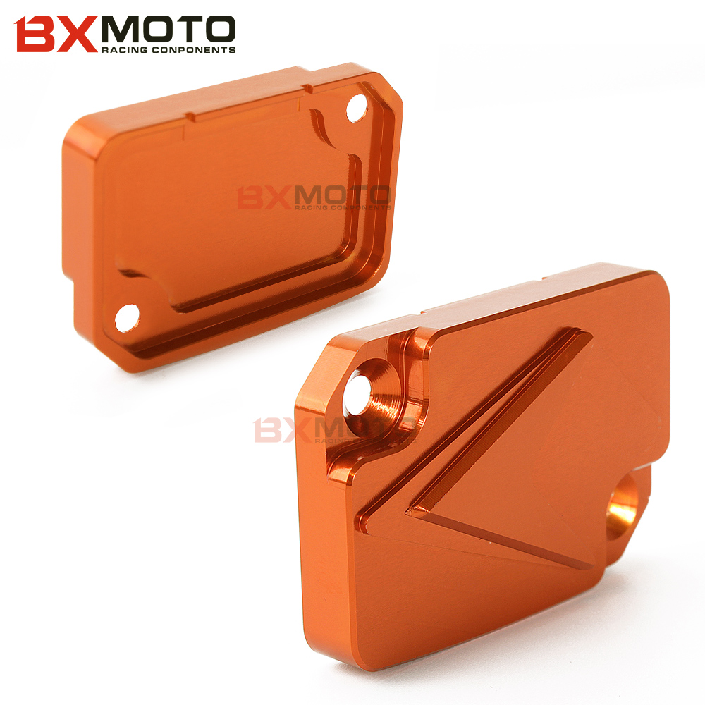 New Motorcycle accessories Orange Motorcycle Front Brake Fluid Reservoir Cover Cap Aluminum For KTM DUKE 125 200 390 for ktm logo 125 200 390 690 duke rc 200 390 motorcycle accessories cnc engine oil filter cover cap