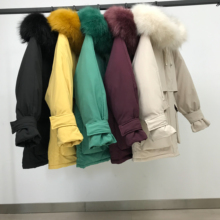 womens winter jackets and coats 2019 Parkas for women 5 Colors Wadded Jackets warm Outwear With a Hood Large Faux Fur Collar