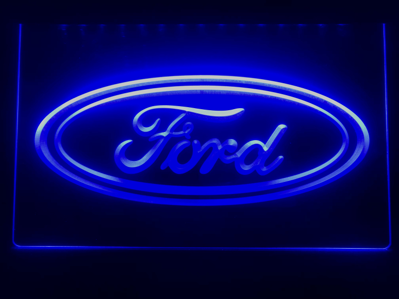 Licensed Ford Mustang 50th Anniversary Neon Clock wall lamp light sign Ford OLP