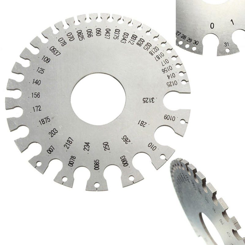 Stainless steel wire gauge tool 0 36 round awg swg thickness ruler aeproducttsubject keyboard keysfo Images