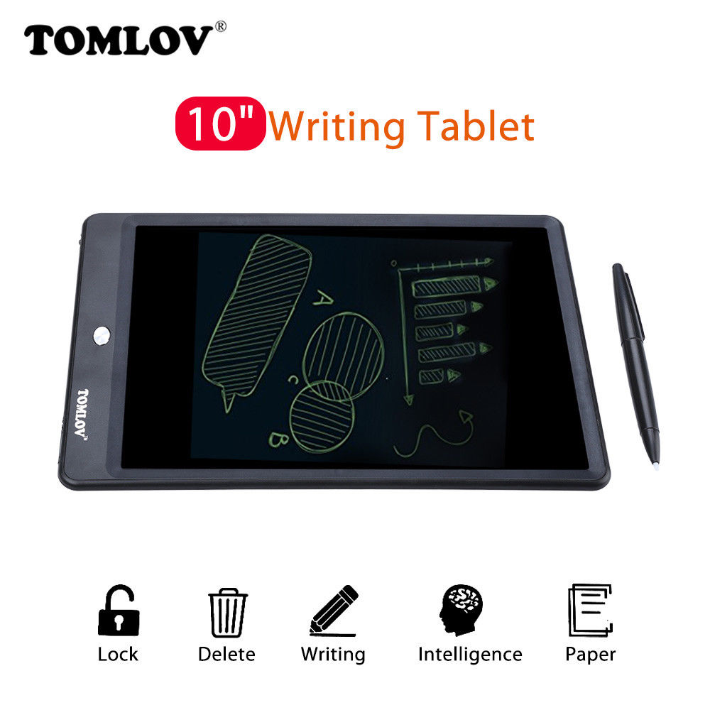 TOMLOV Electronic Digital 10 LCD Writing font b Tablet b font Pad Jot Style Board Stylus