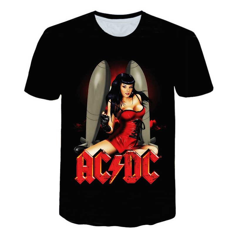 Новая футболка с 3d принтом для мужчин и женщин, рок-футболка для мужчин, s AC DC, хип-хоп, модная футболка из тяжелого металла, одежда унисекс, топы, футболки