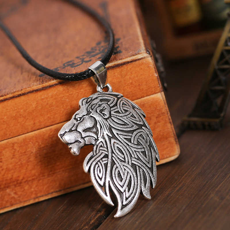 Knot lion Pendant Necklace Fashion couple amulet Gift drop shipping