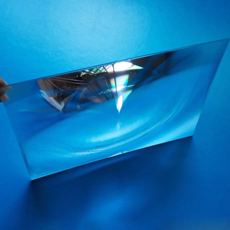 1 PC 248x168mm Grand Optique PMMA En Plastique Lentille De Fresnel Longueur Focale 520mm F Projecteur, avion Loupe, L'énergie Solaire Concentrateur