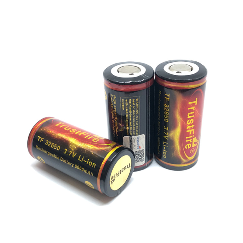 5PCS/LOT TrustFire 32650 Rechargeable Batteries Large Capacity 6000mAh 3.7V Li-lon Battery with PCB Protected Board